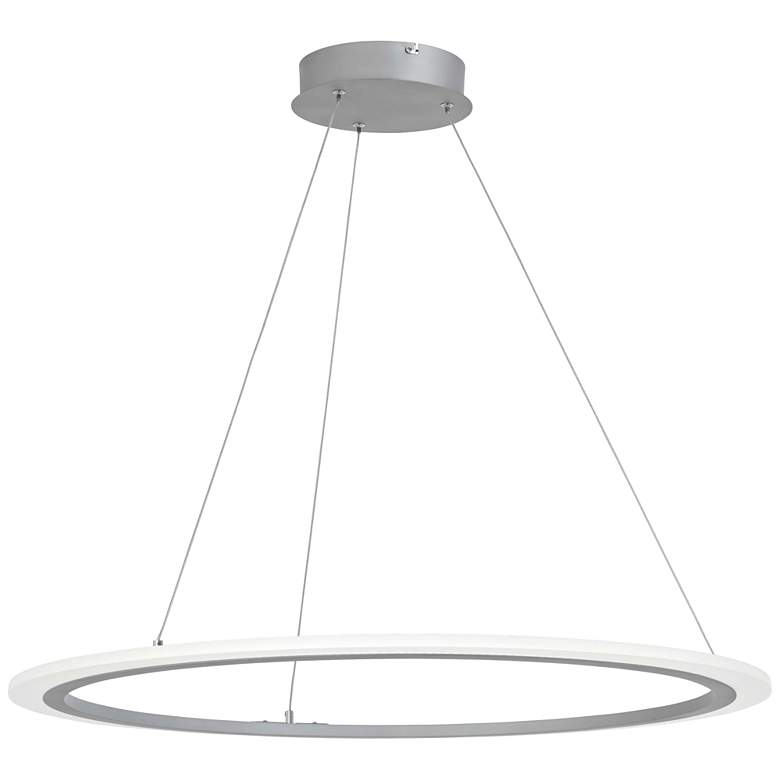 "George Kovacs Discovery 31 1/4""W Silver LED Pendant Light"