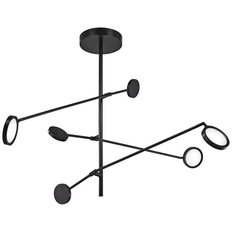 """George Kovacs Radar 58 1/2"""" Wide Black LED Pendant Light"""