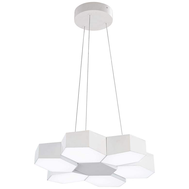 "George Kovacs Hexacomb 19""W Matte White 6-Light LED"