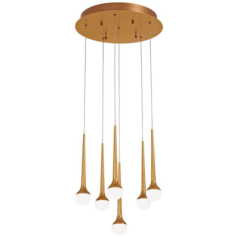 """Honey Drip 15 3/4"""" Wide Sunset Gold LED Multi Light Pendant"""