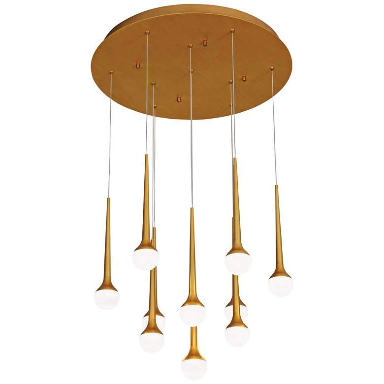"""Honey Drip 22"""" Wide Sunset Gold LED Multi Light Pendant"""