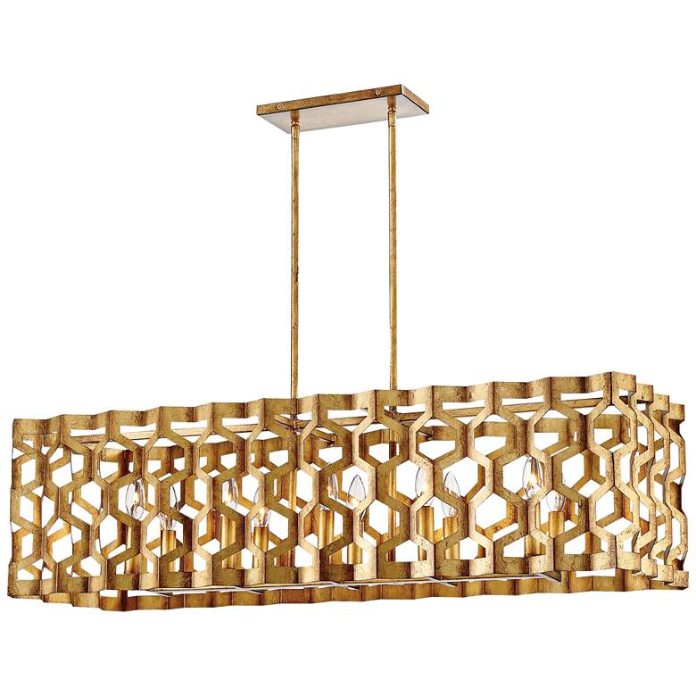 "Coronade 40 1/2"" Wide Gold Leaf Kitchen Island Light Pendant"