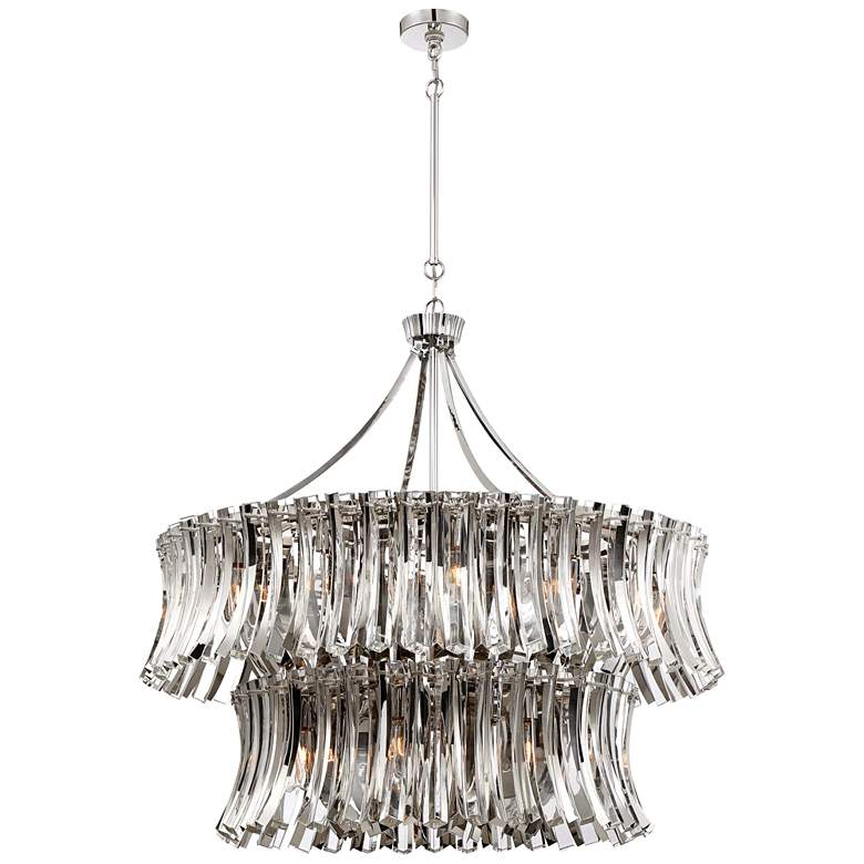 "Elegance Royale 39"" Wide Two Tier Crystal Pendant Chandelier"
