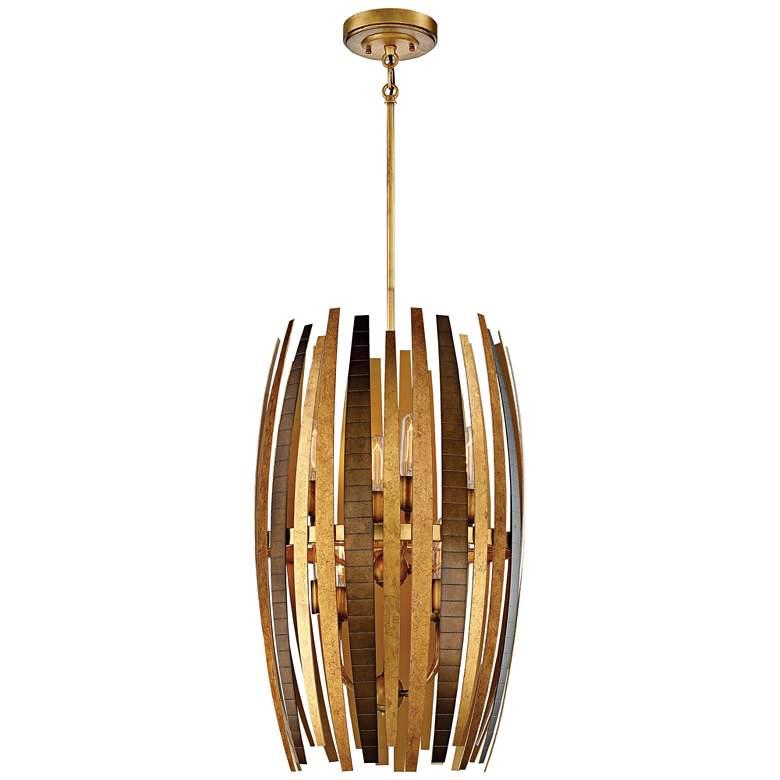 "Metropolitan Manitou 17"" Wide 8-Light Ardor Gold Pendant"