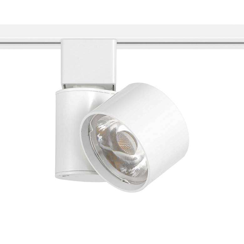 White Round 10 Watt LED Track Head for Halo System