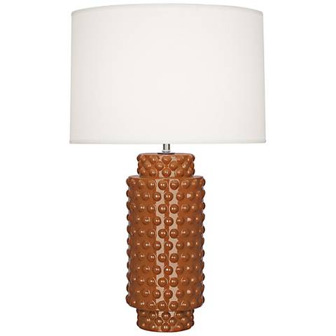 Robert Abbey Dolly Cinnamon Ceramic Table Lamp