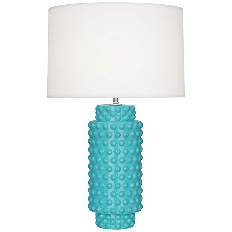 Robert Abbey Dolly Egg Blue Ceramic Table Lamp