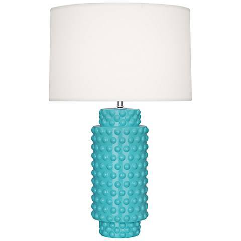 Robert Abbey Dolly Egg Blue Ceramic Table Lamp