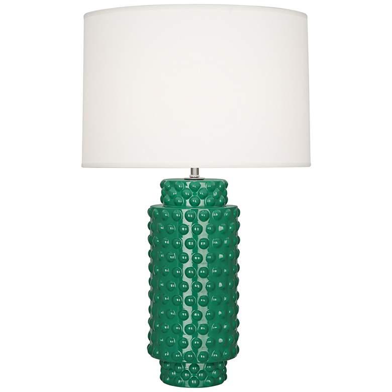 Robert Abbey Dolly Emerald Green Ceramic Table Lamp