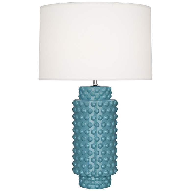 Robert Abbey Dolly Steel Blue Ceramic Table Lamp