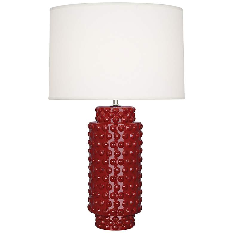 Robert Abbey Dolly Oxblood Red Ceramic Table Lamp