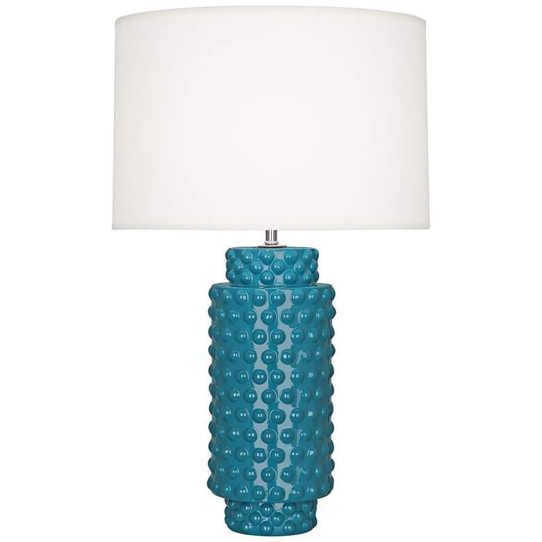 Robert Abbey Dolly Peacock Ceramic Table Lamp