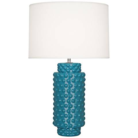 Robert Abbey Dolly Peacock Ceramic Table Lamp