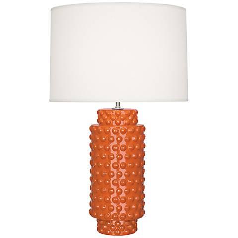 Robert Abbey Dolly Pumpkin Ceramic Table Lamp