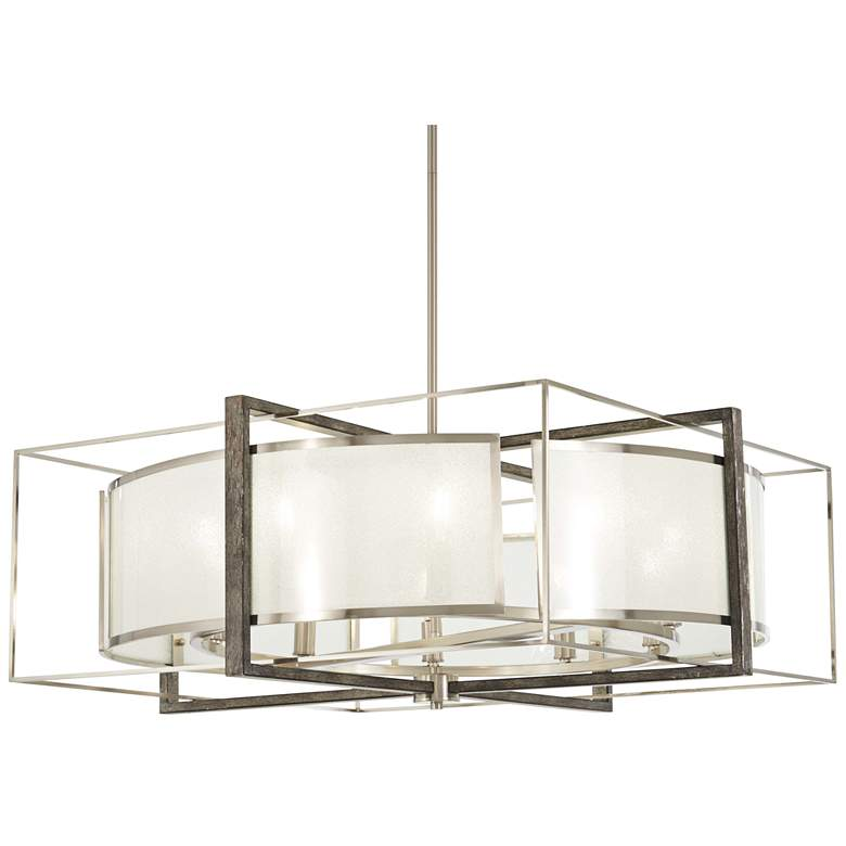 "Tyson's Gate 30"" Wide Brushed Nickel Pendant Light"