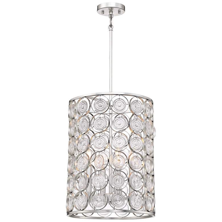 "Culture Chic 14"" Wide Catalina Silver 4-Light Pendant"