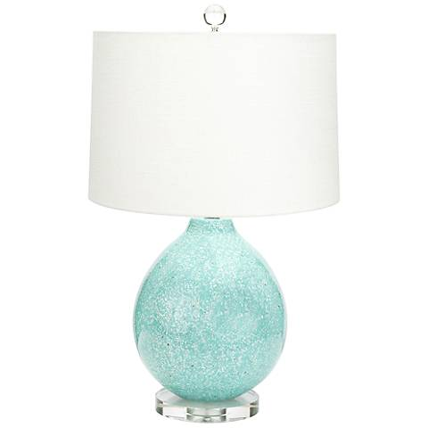 Couture Tilly Gloss Green Mother Of Pearl Sand Table Lamp