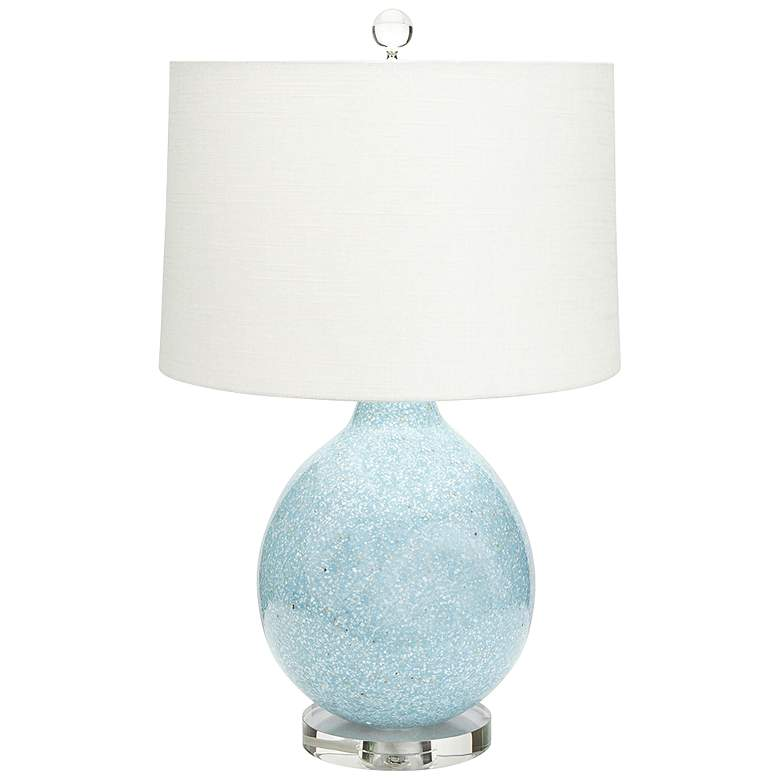 Couture Tilly Gloss Blue Mother Of Pearl Sand Table Lamp