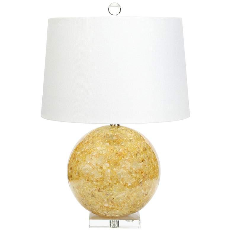 Couture Jamison Natural Yellow Quartz Table Lamp