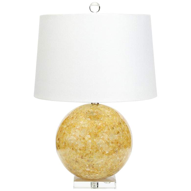 Couture Jamison Natural Yellow Quartz Table Lamp