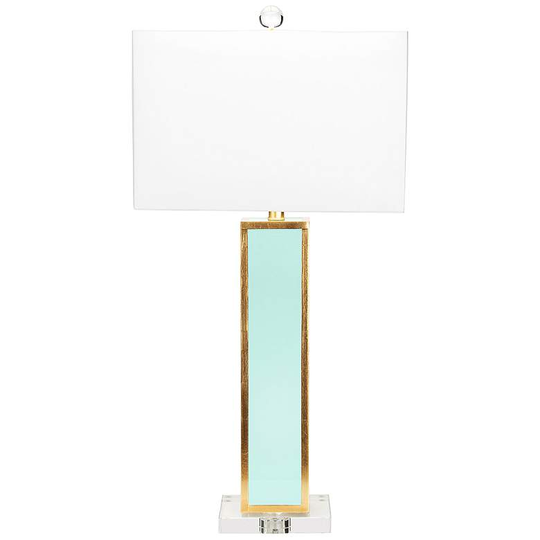 Couture Blair Glossy Mint Lacquer and Gold Leaf Table Lamp