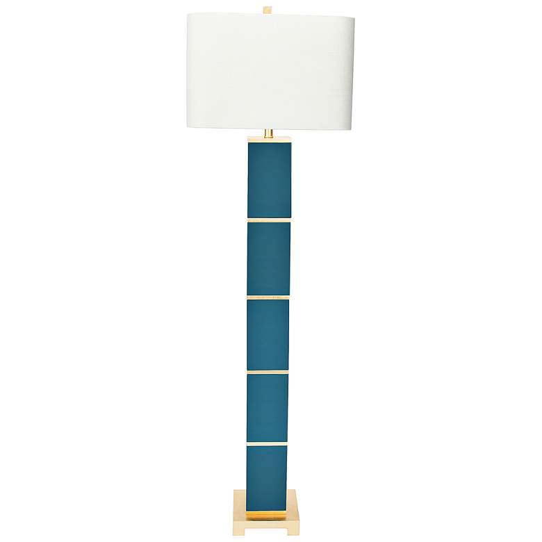 Couture Glossy Peacock Teal Floor Lamp