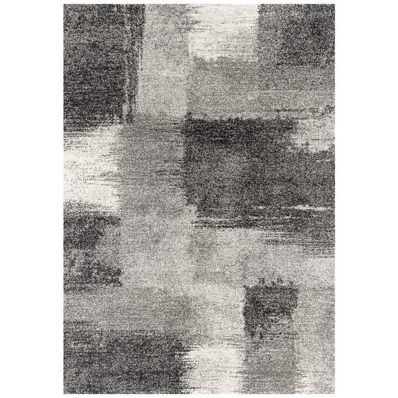 """Serenity Auroa 5'3""""x7'2"""" Gray Area Rug"""