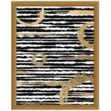 """Halos on Black 15 1/2"""" High Framed Giclee Wall Art"""