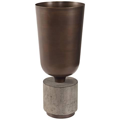 "Uttermost Alijah Bronze 19"" High Vase"