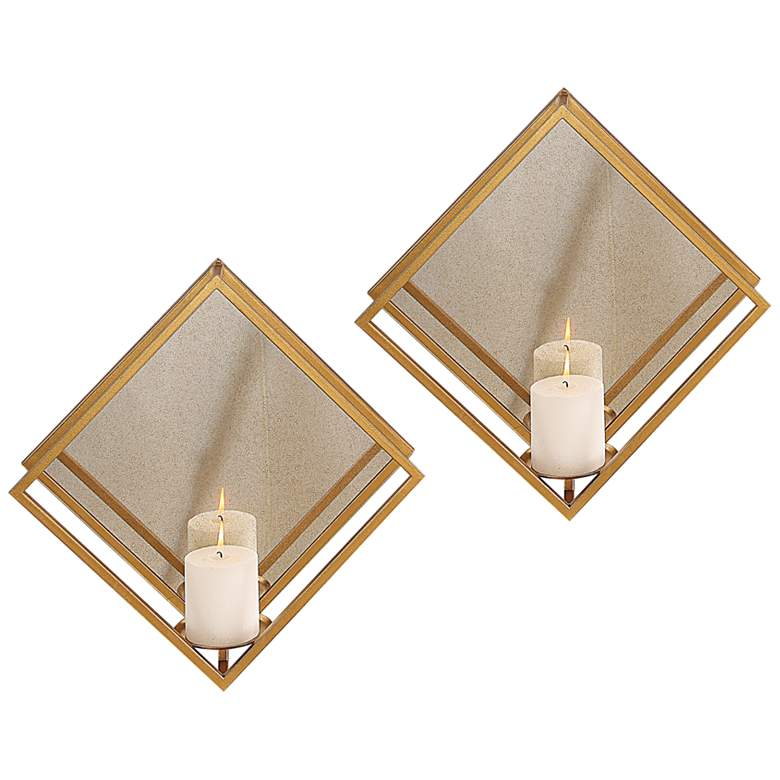"""Uttermost Zulia 16"""" High Candle Wall Sconces Set of 2"""
