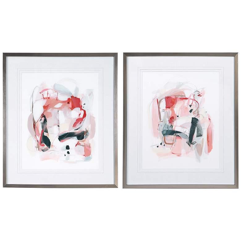"Uttermost Soft Speak 30 1/4""H 2-Piece Framed Wall Art Set"