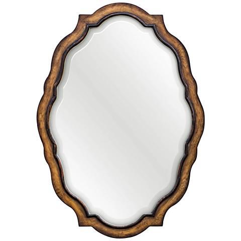"Talicia Aged Honey Stain 29 1/2"" x 41 1/2"" Wall Mirror"