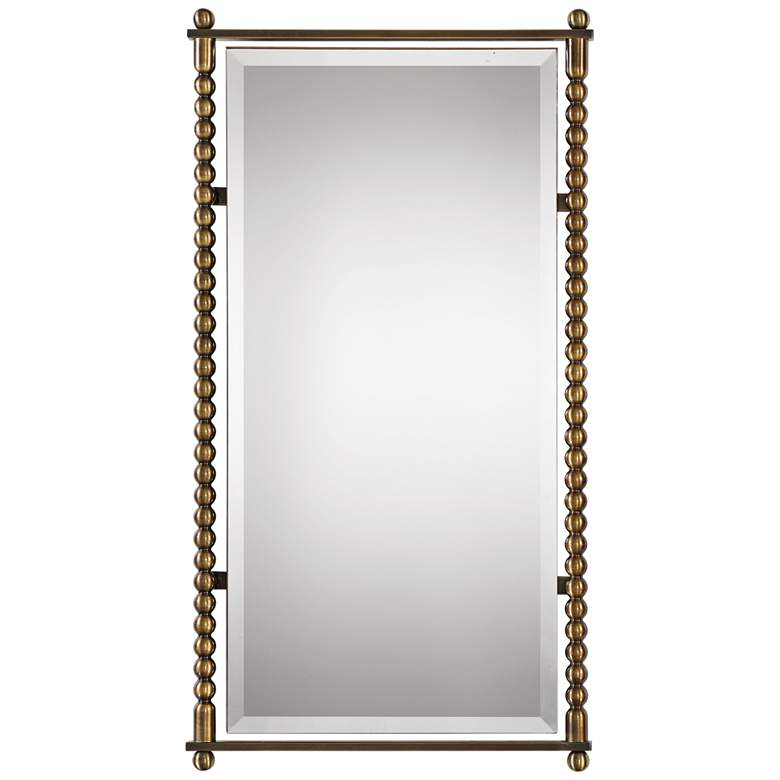 "Uttermost Rosabel Brass 21 1/2"" x 42"" Wall Mirror"