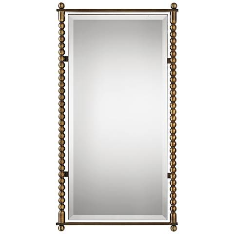 "Uttermost Rosabel Antiqued Brass 21 1/2"" x 42"" Wall Mirror"