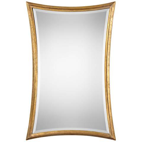 """Vermejo Antiqued Gold Leaf 27 3/4"""" x 42"""" Wall Mirror"""