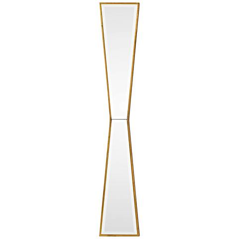"Uttermost Corbata Antiqued Gold Leaf 10"" x 60"" Wall Mirror"