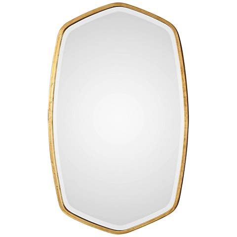 "Duronia Antiqued Gold Leaf 22 1/4"" x 36 1/4"" Wall Mirror"