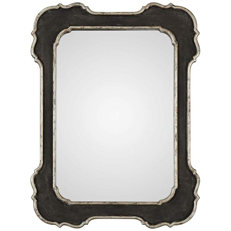 "Uttermost Bellano Aged Black 31 1/2"" x 42"" Wall Mirror"