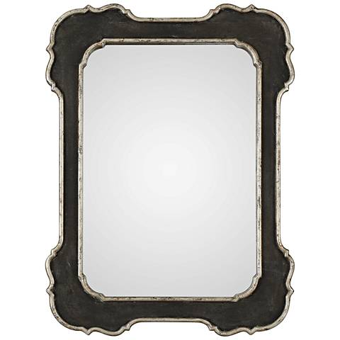 "Uttermost Bellano Aged Black 31 1/2"" x 42"" Wall Mirror"
