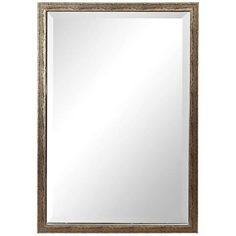 "Uttermost Aburay Silver 26 1/4"" x 38 1/2"" Wall Mirror"