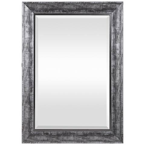 """Uttermost Affton Silver 25 1/2"""" x 35 1/2"""" Wall Mirror"""