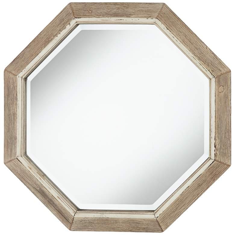 "Aspen Natural Wood 28 3/4"" Octagon Wall Mirror"