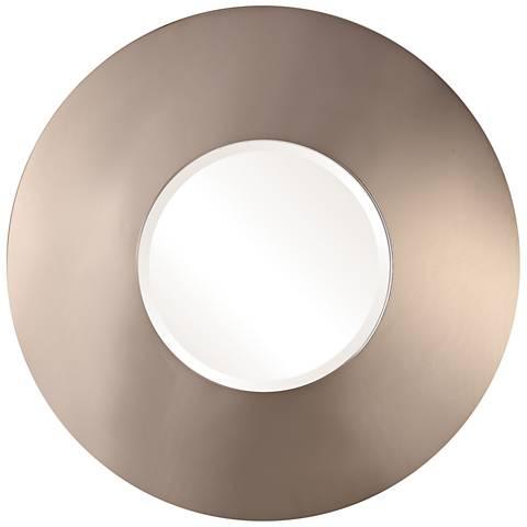 """Uttermost Zvon Smokey Bronze 36"""" Round Wall Mirror"""