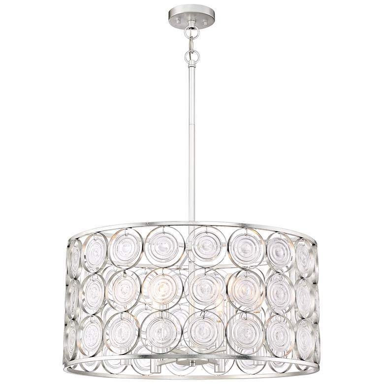 "Culture Chic 24 1/2"" Wide Catalina Silver 6-Light"