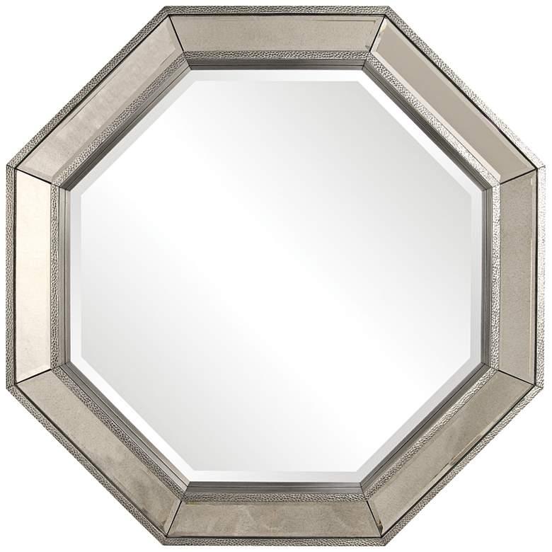 """Uttermost Rachela Burnished Silver 38"""" x 38"""" Mirror"""