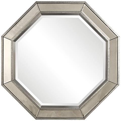"Uttermost Rachela Burnished Silver 38"" x 38"" Wall Mirror"