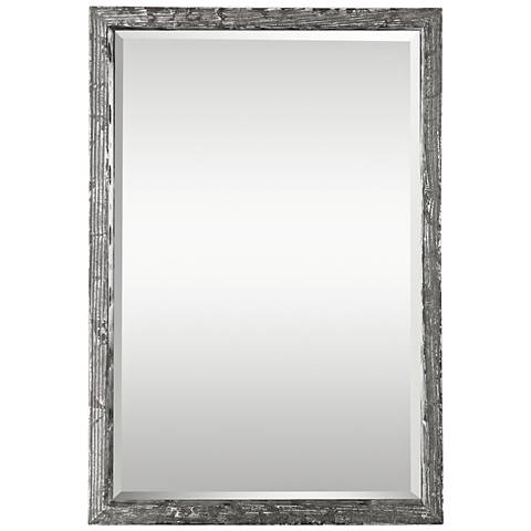 "Uttermost Weber Antique Silver Leaf 24"" x 36"" Wall Mirror"