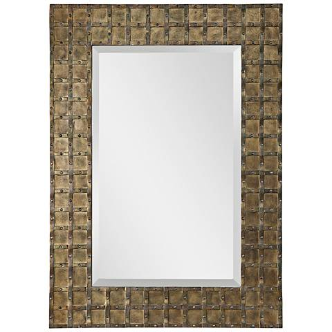 "Alderney Antiqued Gold 32 3/4"" x 46 1/4"" Wall Mirror"