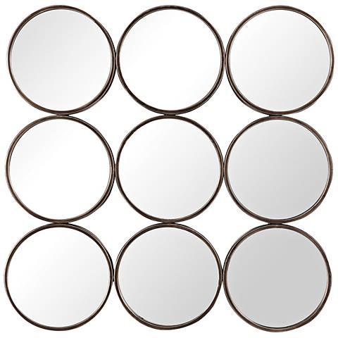 "Devet Burnished Bronze 35 1/2"" x 35 1/2"" Wall Mirror"