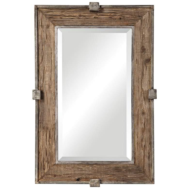 "Uttermost Siringo Natural 25 1/4"" x 37 1/4"" Wall Mirror"